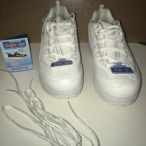 RARE White and Glitter Skechers Shape Ups
